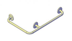 Поручни для инвалидов угловой 600х400 мм (наружный)
