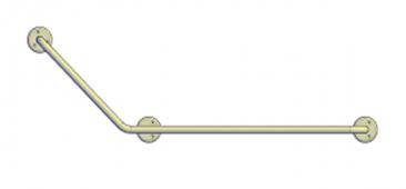 Поручень угловой (135°) 800х400 мм левый
