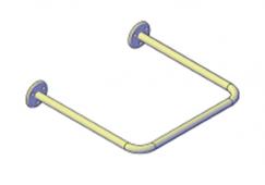 Поручни для инвалидов для раковины 400x400 мм
