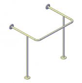 Поручни для инвалидов для раковины 700x500x750 мм