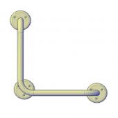 Поручни для инвалидов угловой (90°) 300х300 мм